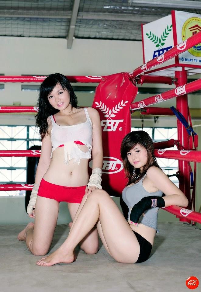 Khi phái đẹp đấu boxing 5