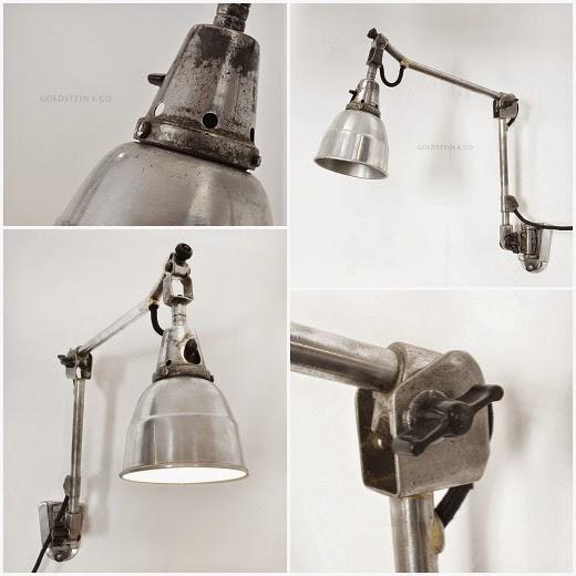 Alte Wandlampe aus Fabrik
