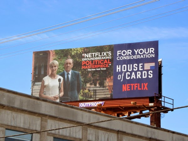 House of Cards season 2 Consideration billboard