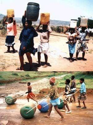 Ruota d'acqua in Africa