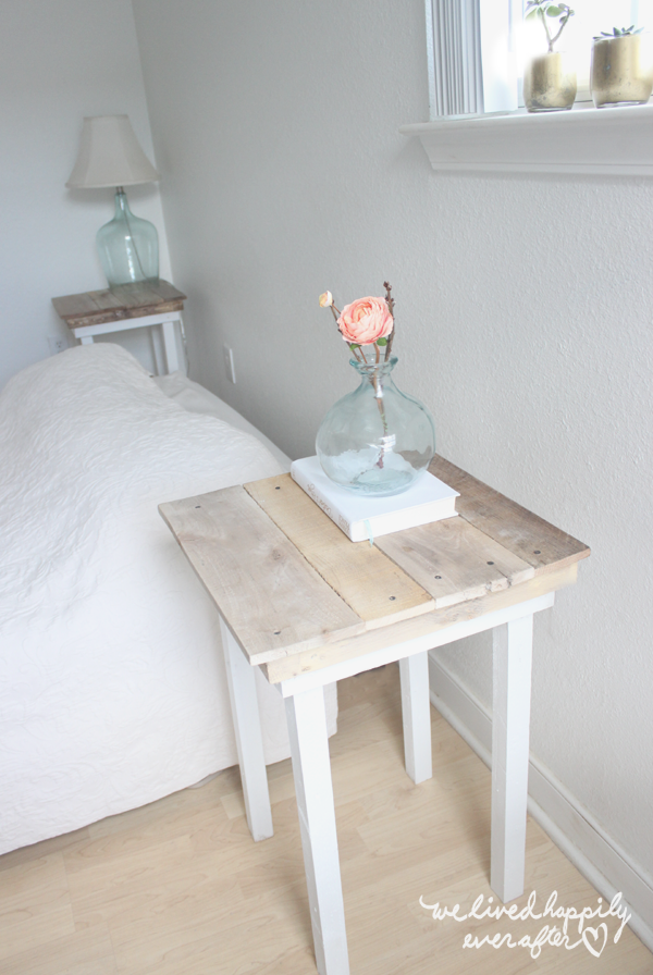 We Lived Happily Ever After DIY Pallet Nightstands With