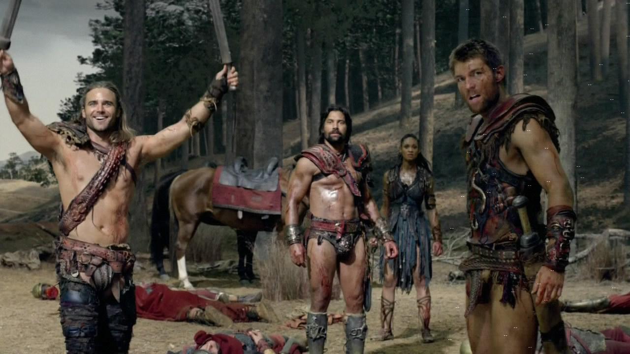 Spartacus 3x01 - principales protagonistas de War of Dammed