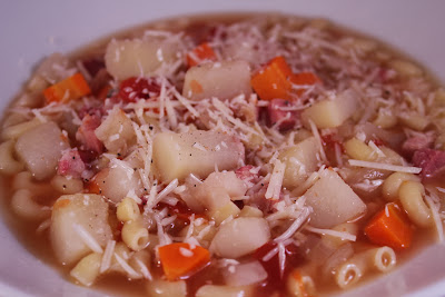 Pasta and pancetta soup
