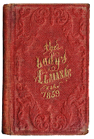1800's Lady's Almanac via Knick of Time