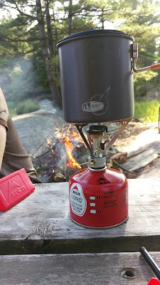 GSI Pinnacle Soloist on a MSR Pocket Rocket Stove