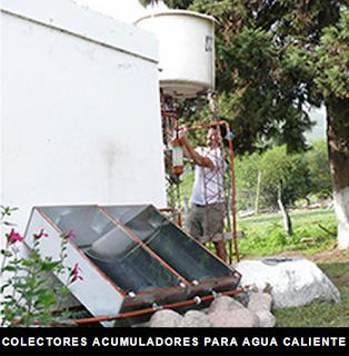 colector acumulador solar para agua caliente