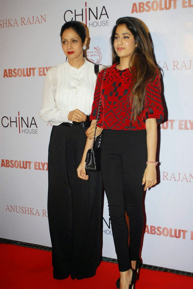 Sridevi and Jahnvi At V-Fashion Show