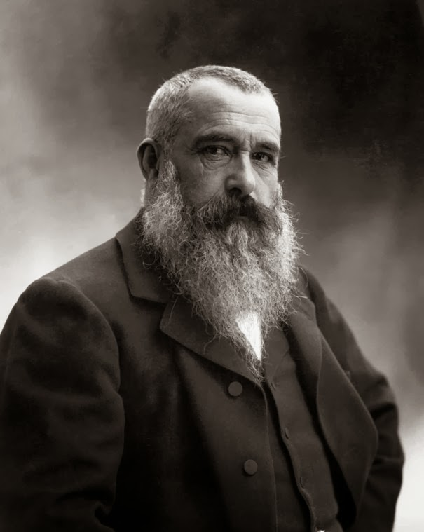 Photo of famous painter Oscar-Claude Monet