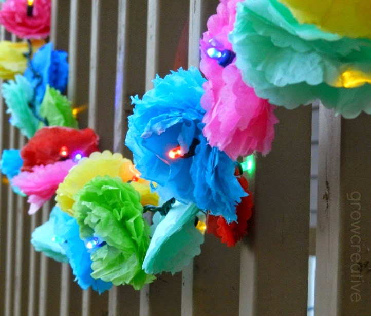 http://growcreative.blogspot.com/2014/05/tissue-paper-flower-party-lights.html