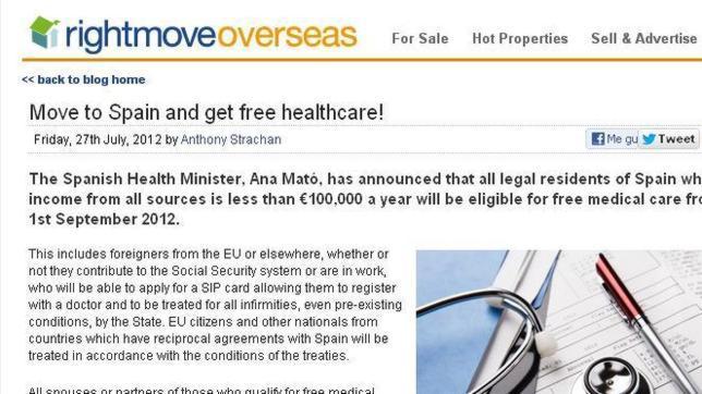 Mudate a España y consigue sanidad gratuita