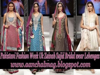 Bridal Fashion Pakistan on Zainab Sajid Bridal Wedding Clothes At Pakistani Fashion Week Uk 2011