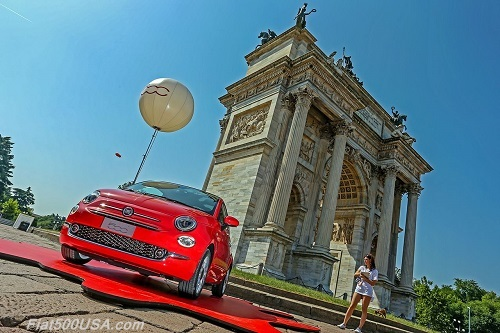 New Fiat 500 at Parco Sempione