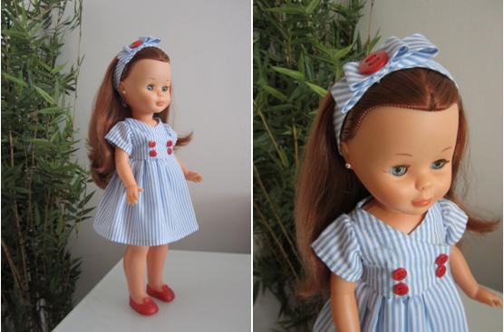 mis nancys mis peques y yo, vestido muñeca  detalle