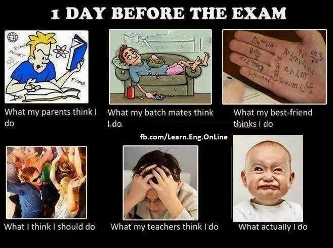 a day before examination What to do on the day of an exam do's and don'ts when the big day arrives you attended classes all semester in the weeks and days before the exam, you studied and .