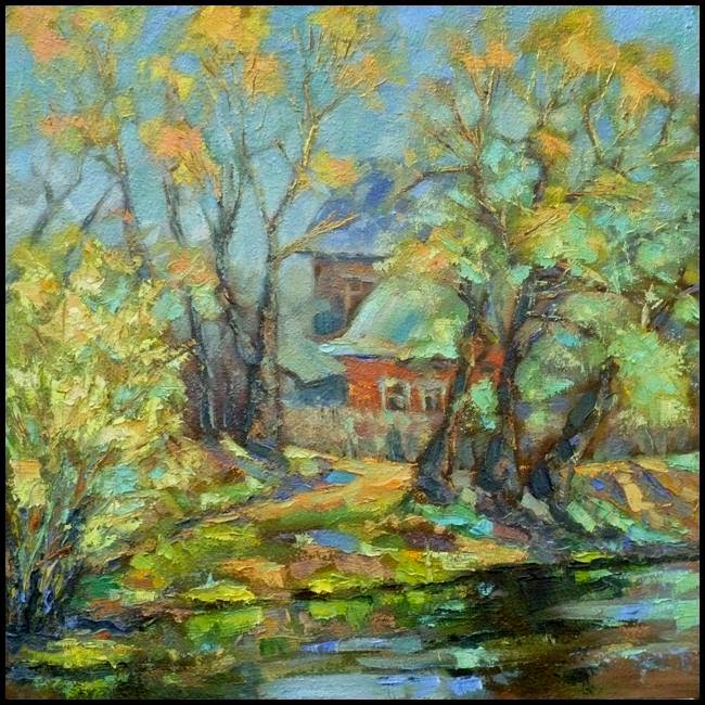 Ivan Krutoyarov. Paintings 2013. May. Bocharov pond