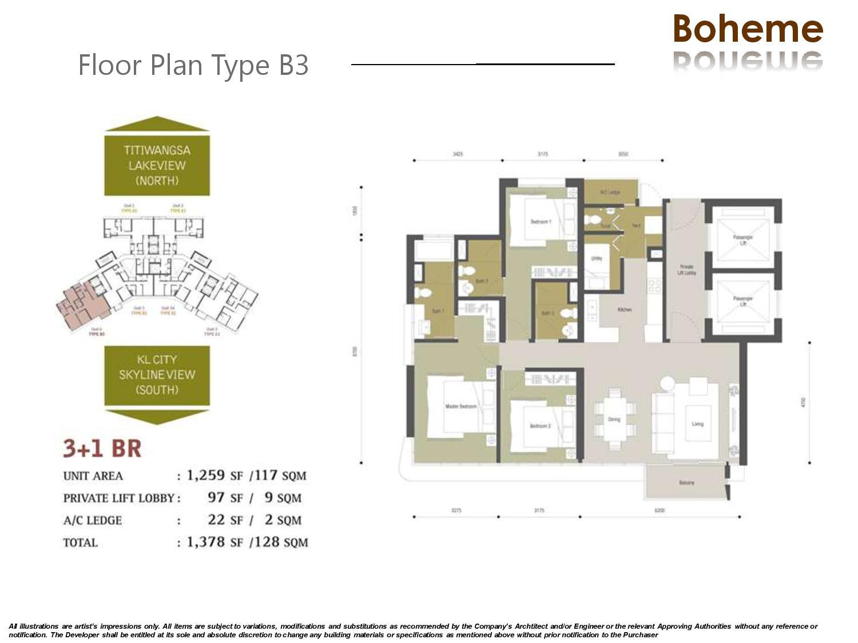 Block B Bohome Floor Plan Setia Sky Residences Klcc