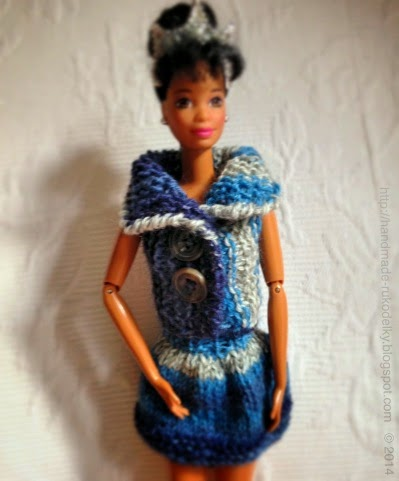 Hand Made Rukodelky Knitted Barbie Doll Vest Free Pattern