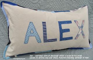 Boy's personalized name pillow - Alex