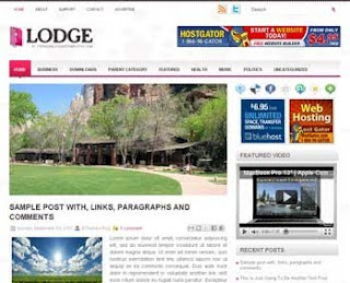 Lodge Blogger Template