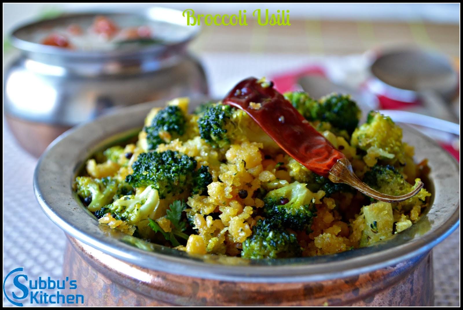 Broccoli Paruppu Usili