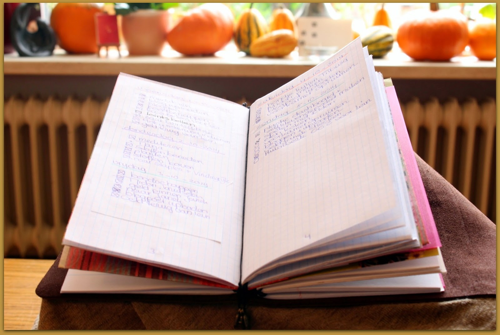 Midori fauxdori Travelers Notebook regular size open bulletjournal