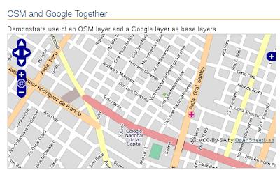 Imagen de ejemplo de OpenLayers usando OpenStreetMap