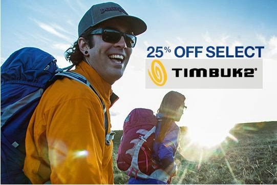 25% Off Select Timbuk2 Bags - limited time
