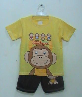 baju kartun motif monyet