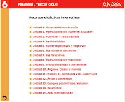 Actividades interactivas matemáticas 6º