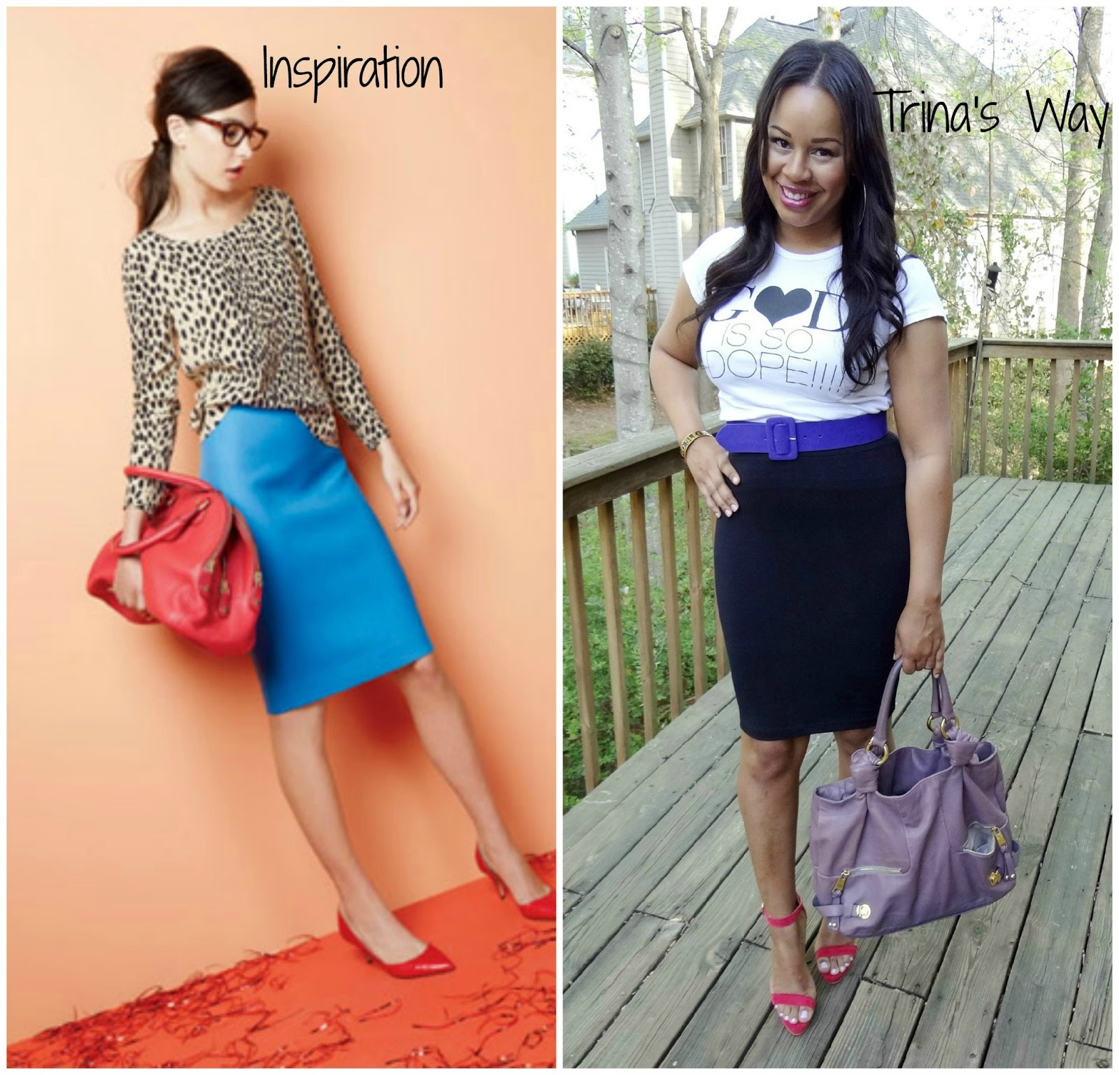 Style Me Friday: Casual Pencil Skirt - Baby Shopaholic