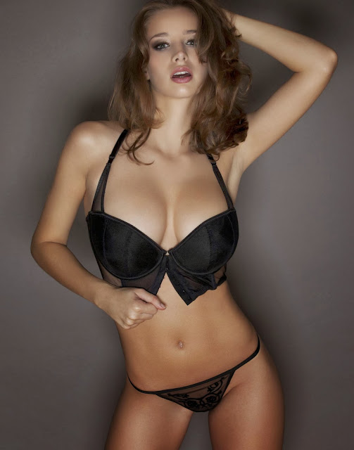 Emily Shaw Sizzling Hot Big Boobs Topless Lingerie Photoshoot By Frank White