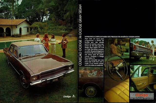 Propaganda Chrysler Dodge Gran Sedan 74 - 1973