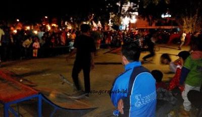 tempat bermain skate board di alun-alun kota malang