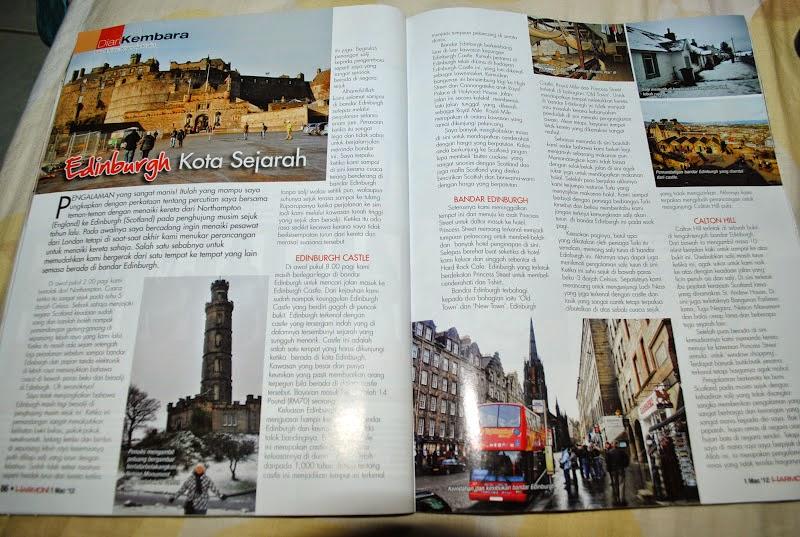 MyTravelog Edinburgh - Majalah Harmoni (2012)