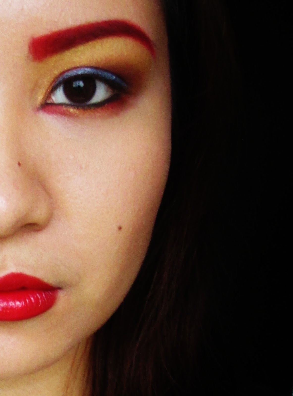 Make Me Up Before You Go Go Iron Man Inspired Makeup Look