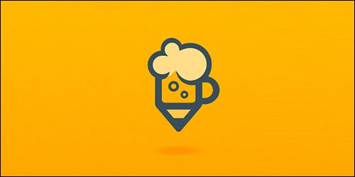 Live Drawing Session Flat Logo Design