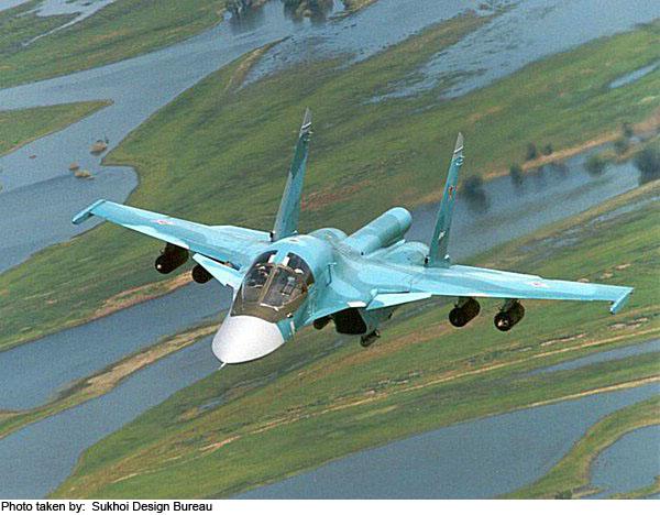 Su-34 Fullback Fighter-Bomber Aircraft