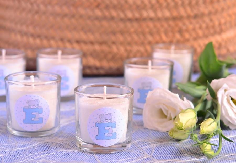 detalles de bautizo velas personalizadas
