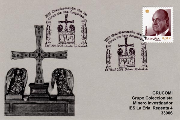 Matasellos de la Cruz de los Ángeles, Oviedo 2008