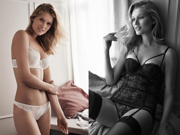 lencería H&M sujetador braga corset encaje
