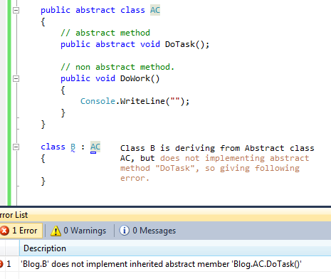 what are abstract classes in c#.net