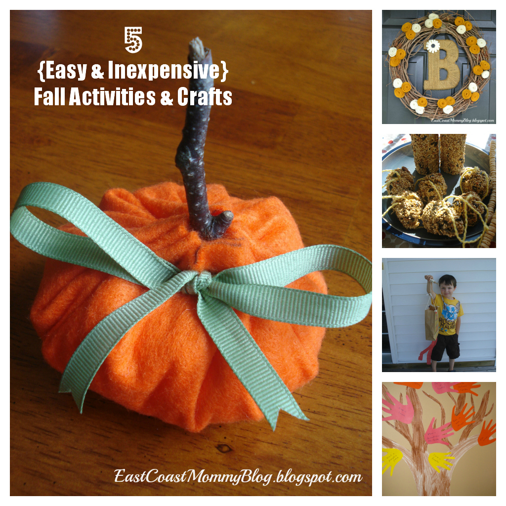 East coast mommy 5 easy and inexpensive fall crafts and for Fall ideas crafts