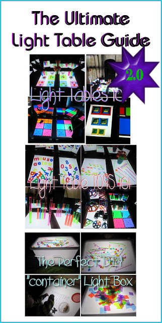 light table play, light table ideas, light table activities, light table toys