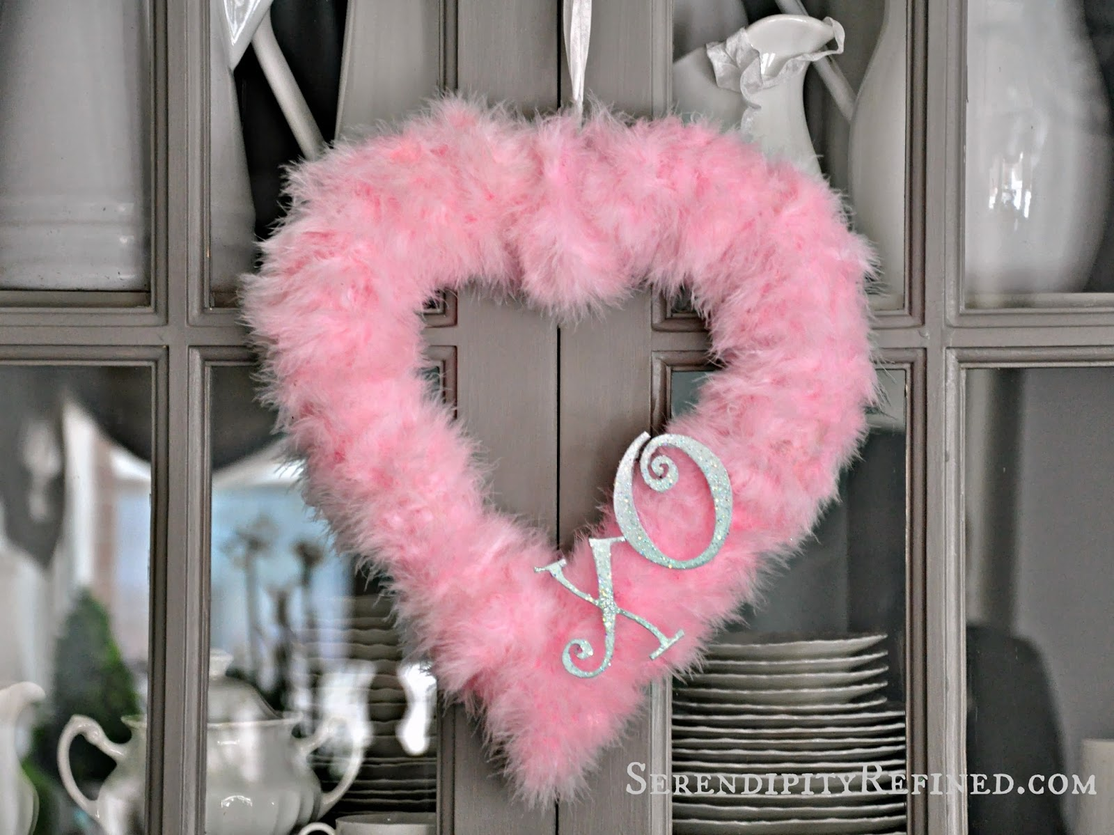 Valentine S Day Feather Heart Wreath A Craft Tutorial Fox