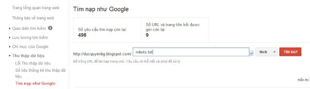 Lỗi robots không truy cập được website của bạn