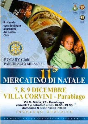 Mercatino di Natale alla Villa Corvini a Parabiago