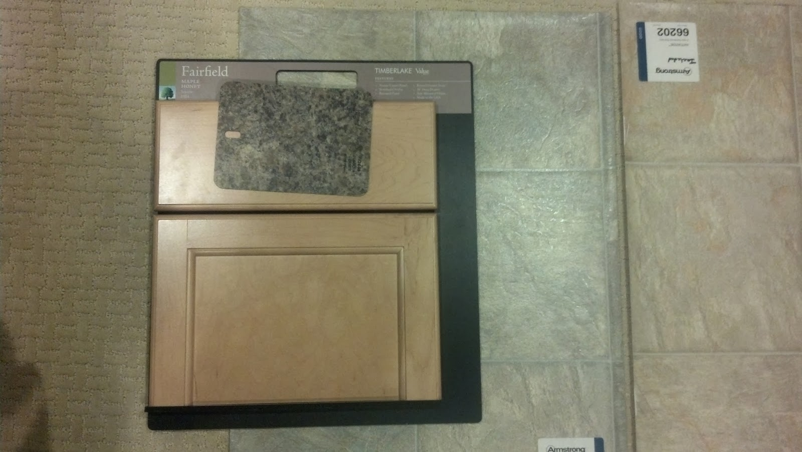 the laminate next to that is for our guest bathroom upstairs