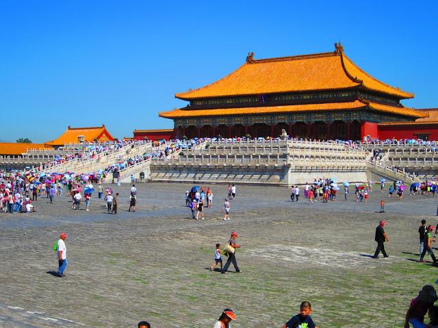 """Patio interior de """"La Ciudad Prohibida"""" de Pekín."""