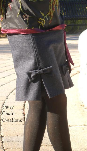 Сшить юбку сзади с бантом 97