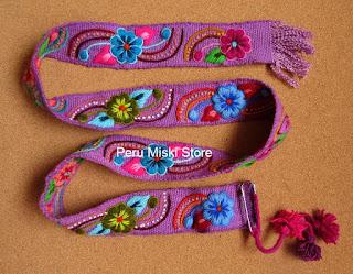 Purple Ayacucho Belt